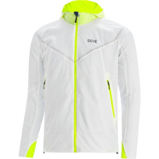 GORE R5 GTX Infinium Insulated Jacket-white/neon yellow-M