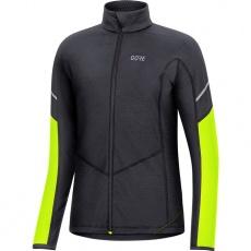 GORE M Women Thermo Long Sleeve Zip Shirt-black/neon yellow-38