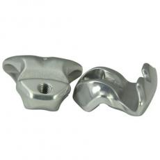 PRO adaptér pro oválné ližiny, hliník ,KORYAK, VIBE 7S, PLT, PLT CC, stříbrná 8-9mm