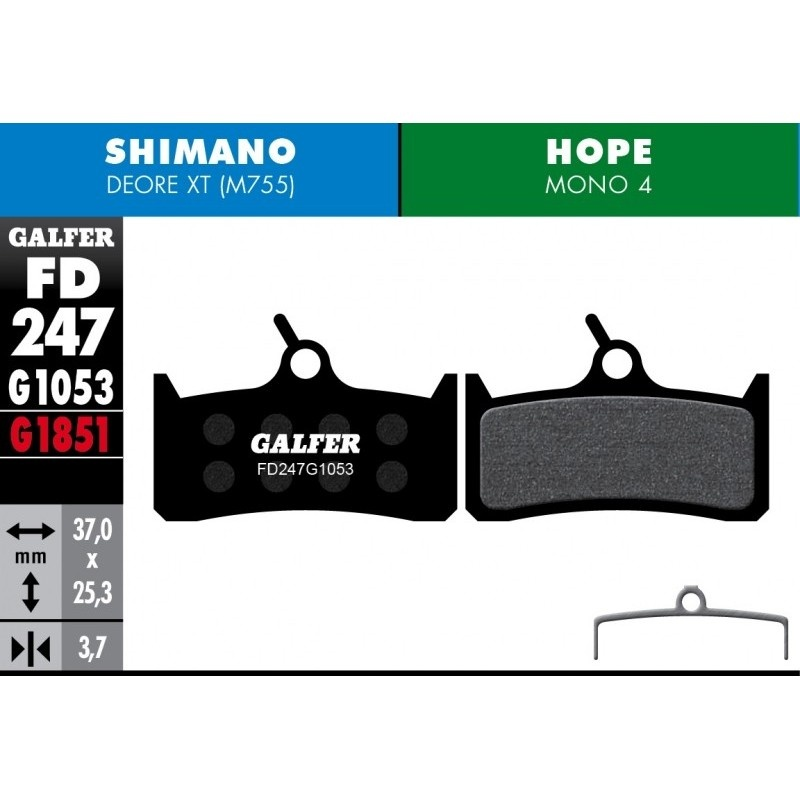 GALFER destičky HOPE/SHIMANO FD247 advanced