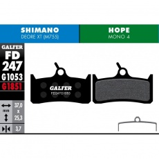 GALFER destičky HOPE/SHIMANO FD247 advanced