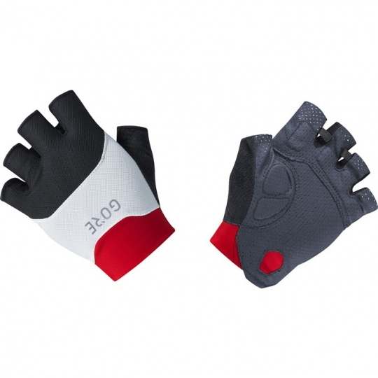 GORE C5 Short Finger Vent Gloves-black/red