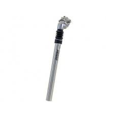 Sedlovka ZOOM odpružená průměr 25,4mm délka 350mm zdvih 40mm barva stříbrná