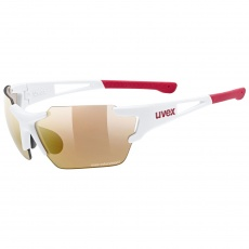 2022 UVEX BRÝLE SPORTSTYLE 803 SMALL RACE VM CV, WHITE MAT - RED (8306)