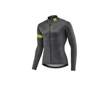 GIANT dres Podium LS Mid-Thermal Jersey-black/yellow