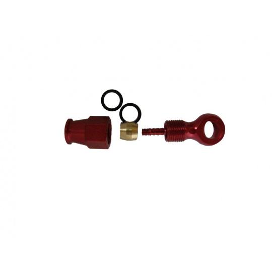 Sada Al šroubovacích hydraulických koncovek lčervená