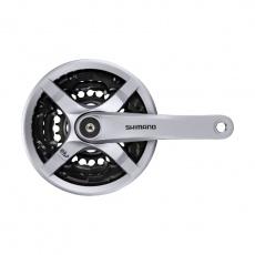 SHIMANO kliky TOURNEY FC-TY501 4hran 3x6/7/8 170mm 48x38x28z s krytem stříbrné