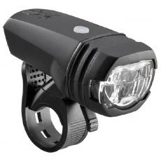 AXA GREENLINE přední světlo 50 lux / USB nabíjení / indikátor baterie / dosah 70 m