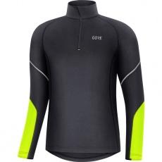 GORE M Mid Long Sleeve Zip Shirt-black/neon yellow