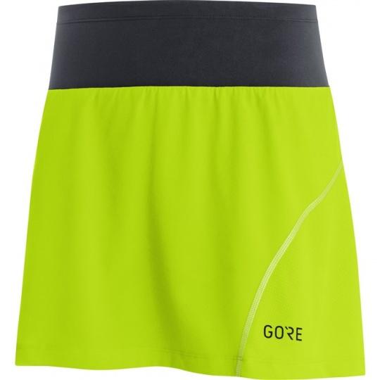 GORE R7 Women Skort-citrus green/black