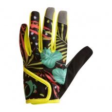 PEARL iZUMi JUNIOR MTB rukavice, CONFETI PALM žlutá