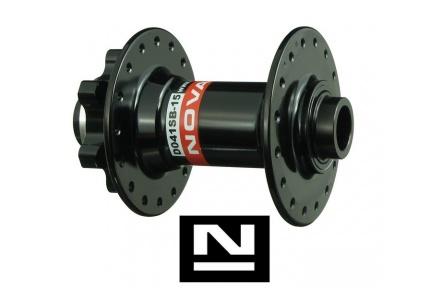 Náboj Novatec D041SB-15, přední, 32-děr, černý (N-logo)