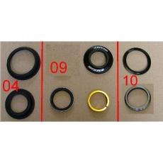 Headset NO57/52 28.6-44.05-56.05-39.78 H=13.5 B.BLK w/8mm Cone Spacer w/o Logo
