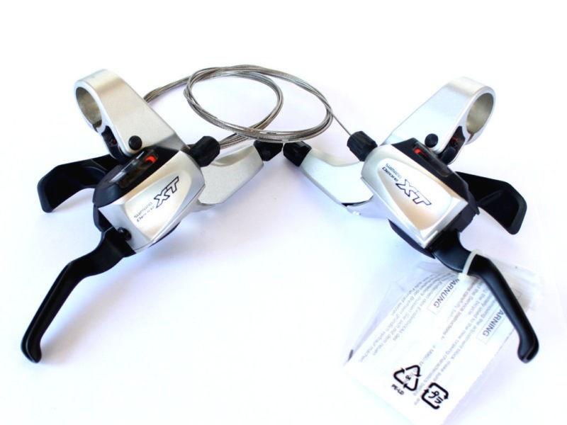 Řadící-brzdové páky SHIMANO Deore XT ST-M761 Dual Control 3x9 pár levá + pravá