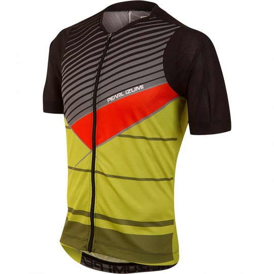 PEARL iZUMi MTB LTD dres, černá/CITRON STRIPE