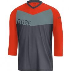 GORE C5 All Mountain 3/4 Jersey-terra grey/orange.com