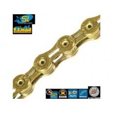 Řetěz KMC X10 SL10 kol ,zlatý, balený v krabičce