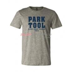 PARK TOOL Triko Park Tool M, šedé, modrý nápis