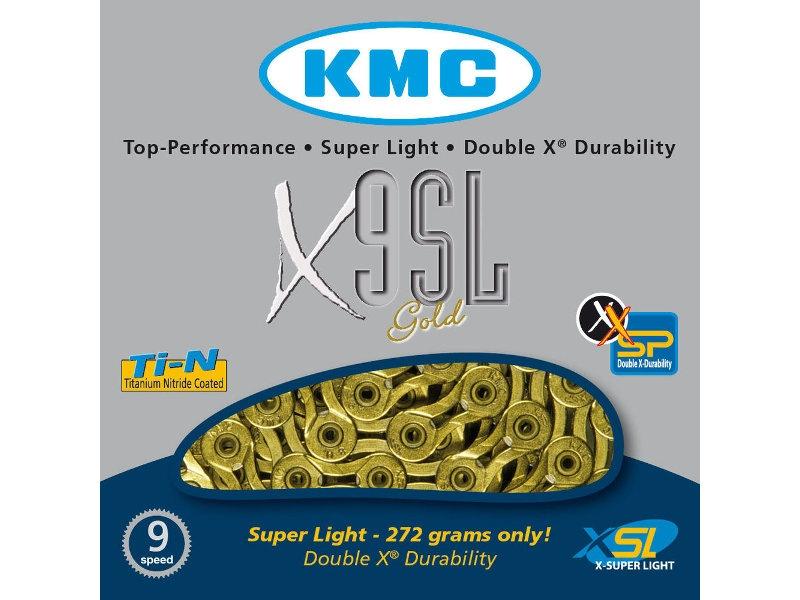 Řetěz KMC X9 SL zlatý