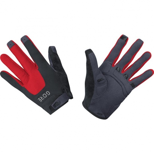 GORE C5 Trail Gloves-black/red