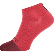 GORE M Light Short Socks-hibiscus pink/chestnut red