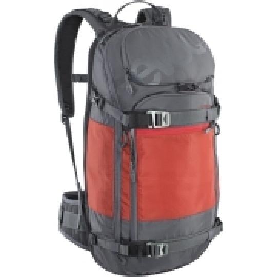 EVOC batoh FR PRO 20l carbon grey - chilli red