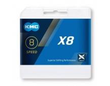 ŘETĚZ KMC X-8 BOX STŘÍBRNÝ
