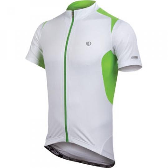 PEARL iZUMi ELITE PURSUIT dres, bílá/zelená, M