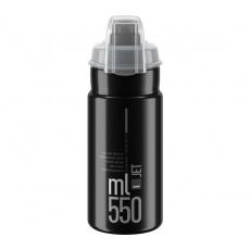 ELITE láhev JET PLUS 21'  černá/šedé logo, 550 ml