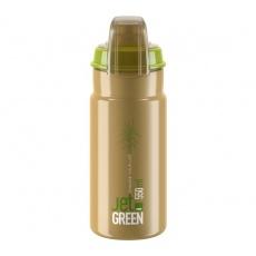 ELITE láhev JET GREEN 21' PLUS hnědá/bílé logo 550 ml
