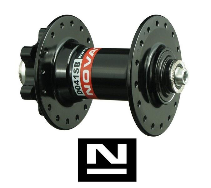 Náboj Novatec D041SB, přední, 32-děrový, černý (N-logo)