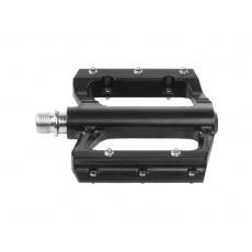 Pedály BMX-DH / M-WAVE Flat flat  / průmyslová ložiska / černá barva