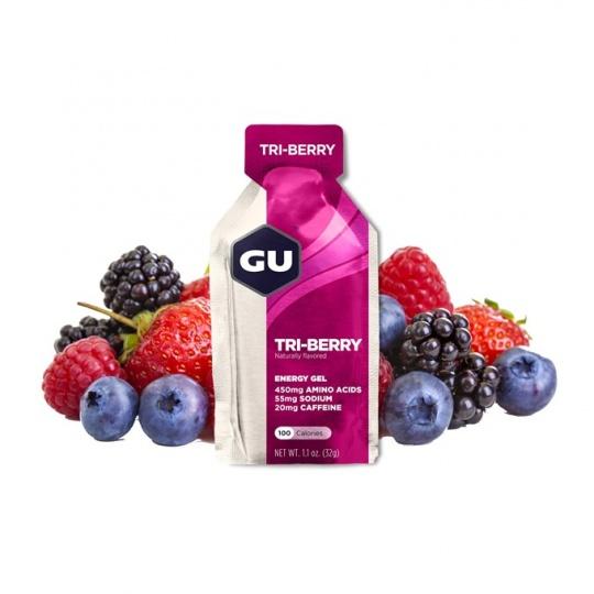 GU Energy Gel 32 g Tri Berry1 SÁČEK (balení 24ks)