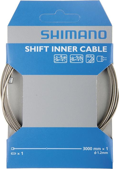 SHIMANO lanko řazení pro tandem z nerez oceli, 1,2x3000mm