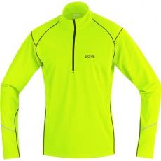 GORE R3 Thermo Long Sleeve Zip Shirt-neon yellow/black
