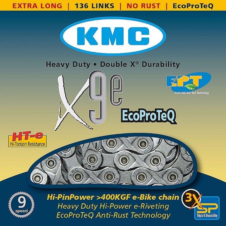 ŘETĚZ KMC X-9-E EPT nereznoucí BOX 136ČL