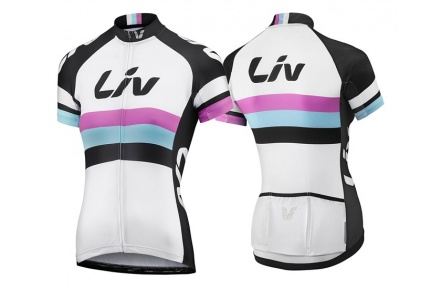 LIV Race Day SS Jersey-white/black-XL