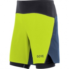 GORE R7 2in1 Shorts-citrus green/deep water blue