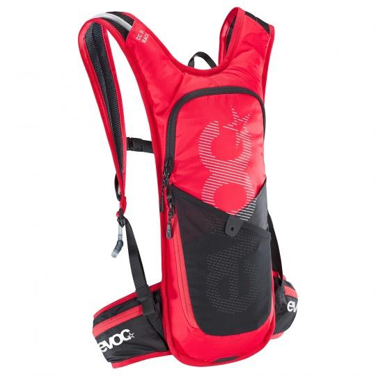 EVOC batoh CC 3l RACE RED - BLACK + bladder 2l