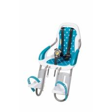 Polstrování pro přední cyklosedačku qibbel modré s tečkami Q538